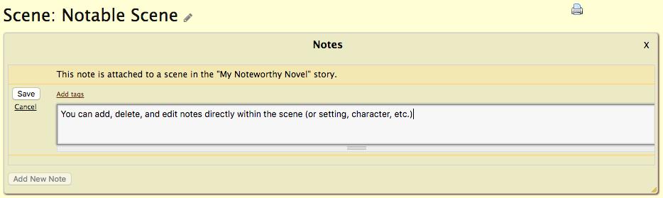 Scene Notes