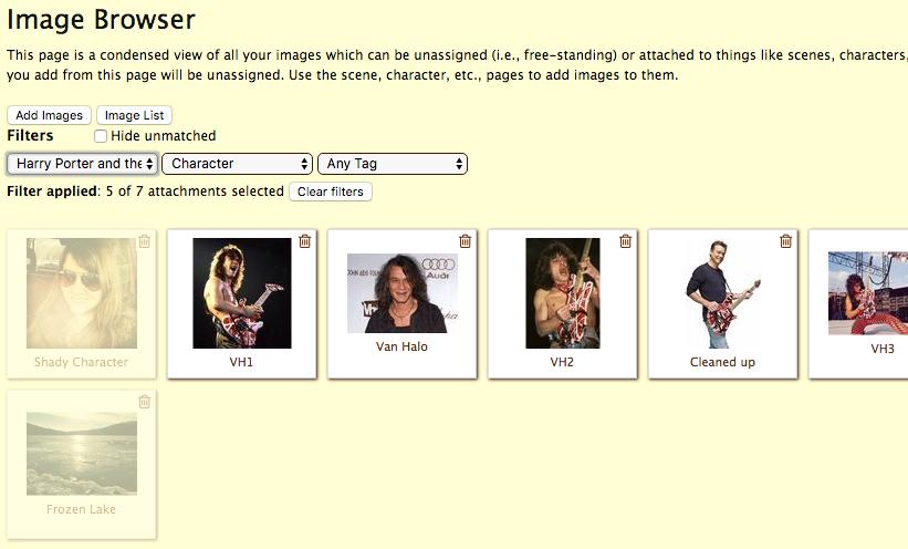 Image Browser Filter